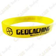 Bracelet silicone Geocaching - Jaune