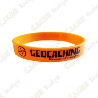 Geocaching silicone wristband for kids - Orange