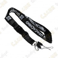 Black geocaching lanyard licensed by Groundspeak.