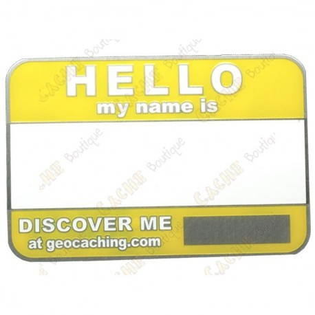 Name tag trackable - Yellow