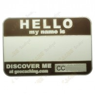 Get discovered at your next event cache with a trackable name tag.