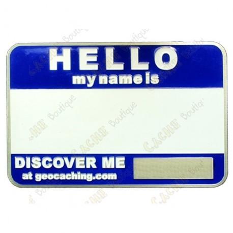 Name tag trackable - Bleu