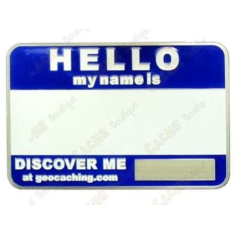 Name tag blank - Azul