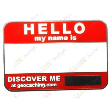 Name tag blank - Red