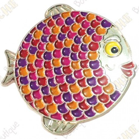 "Geocoin ""Rainbow Fish"" V2 - Groundspeak Pink"