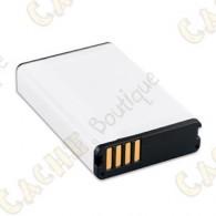 Para largas excursiones, llévate un paquete de batería de ion litio adicional o compra uno de repuesto para tu dispositivo Garmin compatible.