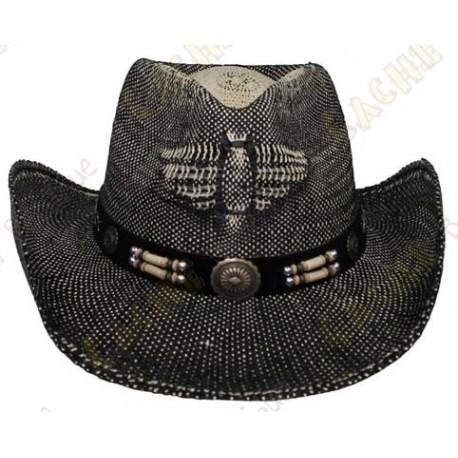 """Hat """"Texas"""" - Black / Brown"""