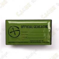 "Cache ""Geocache Oficial"" rectangular magnética"