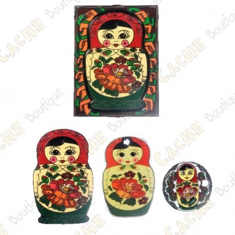 """Matryoshka Doll"" Geocoin - Red"