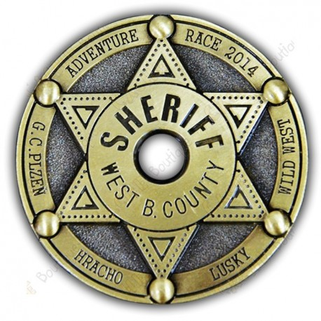 "Geocoin ""Sherif West B. County"""