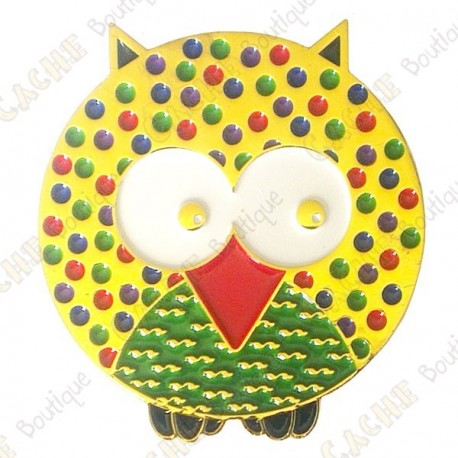 """Geocoin """"Dotted Owl"""" - Spring - Gold LE"""