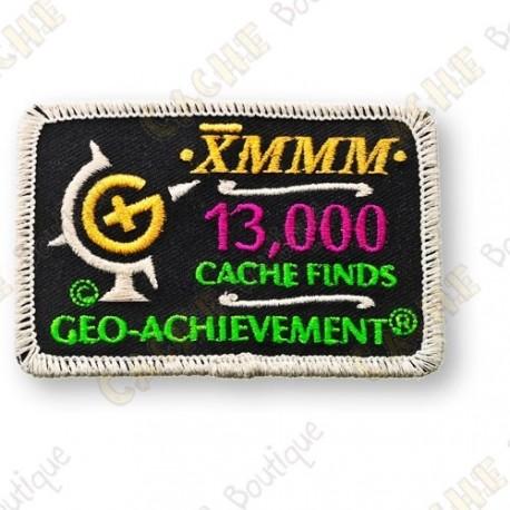 Geo Achievement® 13 000 Finds - Patch