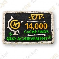 Geo Achievement® 14 000 Finds - Patch