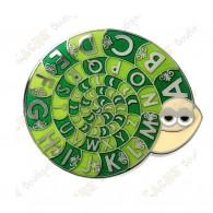 """Géocoin  """"Snail ROT 13"""" - Verde"""