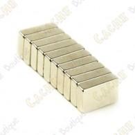 Imánes neodimios 10x6x2mm - Lote de 10