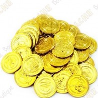Pirate coins x 4 - Gold
