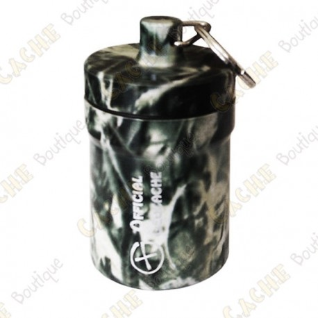 "Huge micro cache ""Official Geocache"" 8 cm - Black grass"