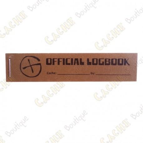 "Pequeno logbook ""Official Logbook"" PET - Rite in the Rain"