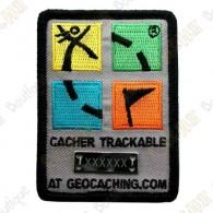 Groundspeak logo trackable patch - Color