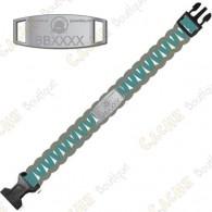 Bracelete Paracord Trackable - Brugse Beer VI - Turquesa / Cinza - Presale