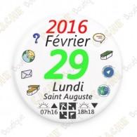"""""""29 février 2016"""" button"""
