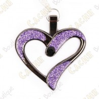 "Geocoin Necklace ""Eternal Love"" - Purple / Black Nickel"