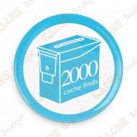 Geo Score Badge - 2000 Finds