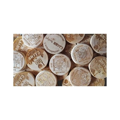 Custom Wood coins x 50