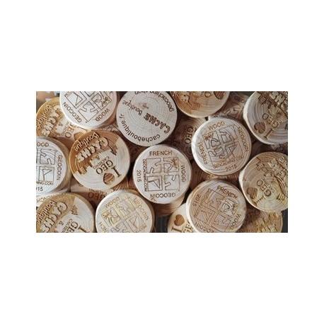 Custom Wood coins x 100
