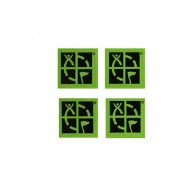 Pack of 4 little Groundspeak green stickers.
