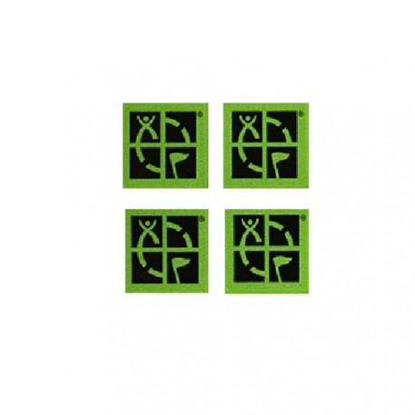 Mini stickers Groundspeak verdes - Conjunto de 4