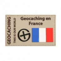"Parche ""Geocaching en France"" PVC"