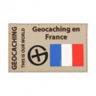 """Patch """"Geocaching en France"""" PVC"""