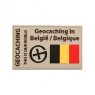 """""""Geocaching en Belgique"""" PVC patch"""