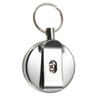Retractable badge key chain with steel rope