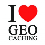 "Sticker vinilo ""I love Geocaching"" - 5 x 5 cm"