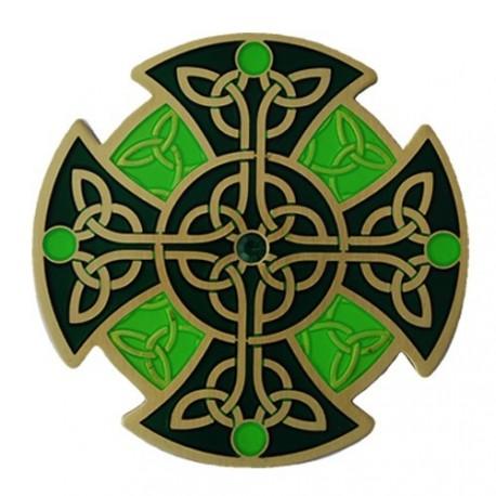 """Geocoin """"Celtic Knot"""" - Verde"""