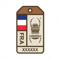 "Sticker Travel Bug ""Origins"" - Francia"