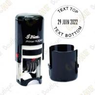 Tampon dateur rond personnalisable - 24mm
