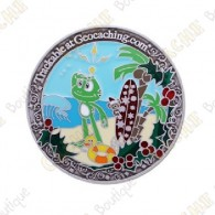 "Geocoin ""Signal Holiday"" - Silver"