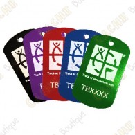 Custom Travel tag - TB shape with your tracking code