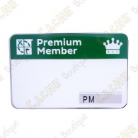 Trackable event name tag - Premium Member