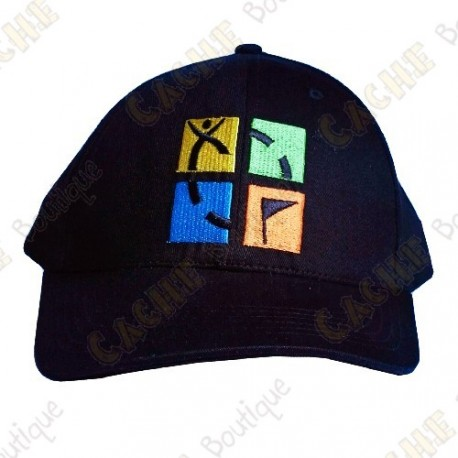 Geocaching cap with color logo - Black