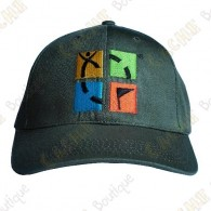 Boné logotipo Geocaching color - Caqui