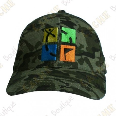 Boné logotipo Geocaching color - Camuflagem