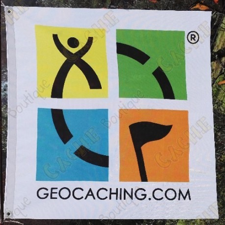 Color trackable Geocaching flag - Large