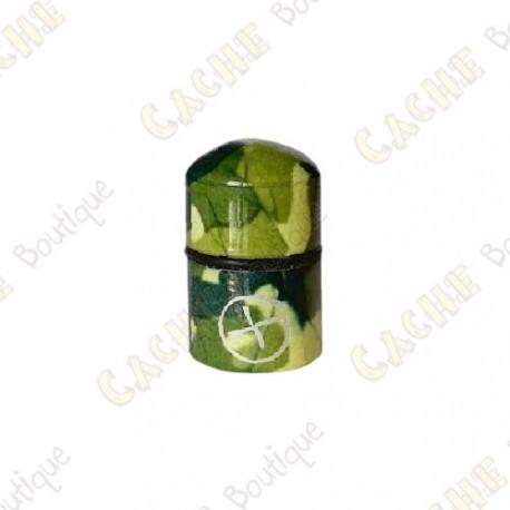"""Nano Cache magnética """"Geo"""" - Camuflagem Verde"""