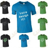100% customized T-shirt, for Men - Black