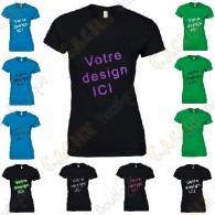 Camiseta 100% personalizado, Mujer