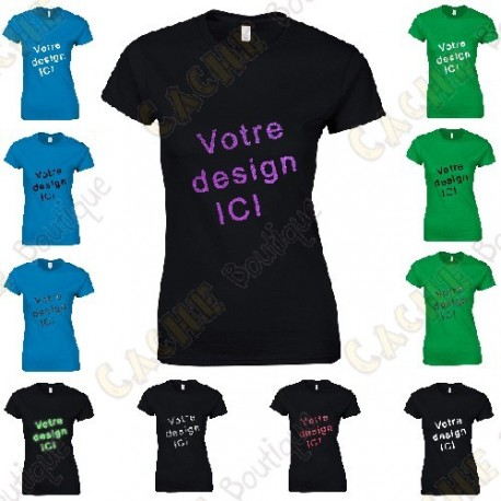 100% customized T-shirt, for Women